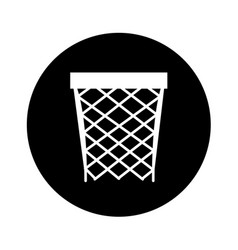 Basket sport isolated icon vector