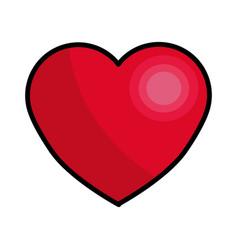 Beautiful romantic heart color line icon vector