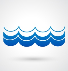 Blue wave icon vector