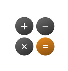 calculator logo vector image vector image