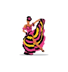 Cancan girl sign french woman dancer in a vector