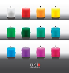 candle color vector image vector image