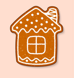 christmas cookie house cake sweet desserts vector image