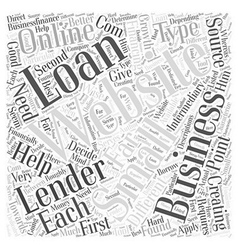 Creating small business loans online word cloud vector