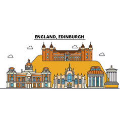England edinburgh city skyline architecture vector
