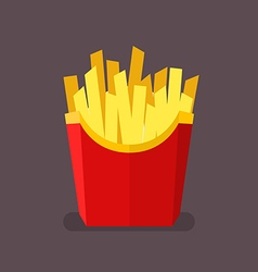French fries in flat style vector
