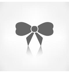 Gift christmas bow web icon vector