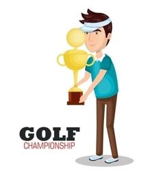 Golf championship sport icon vector
