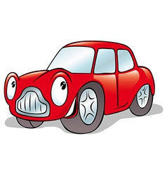 happy cartoon car vector image