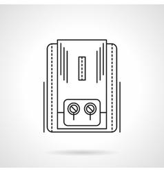 Heating equipment flat line icon vector