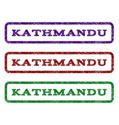 Kathmandu watermark stamp vector