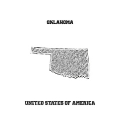 Label with map of oklahoma vector image