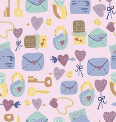 Love letter seamless pattern vector
