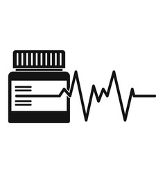 Medicament icon simple style vector