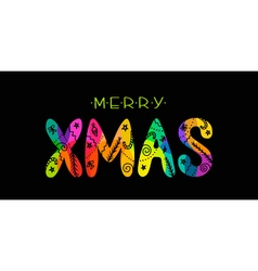 MERRY XMAS CARD vector image