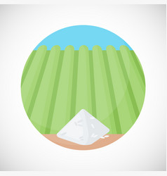 Pile of rice flat ico vector