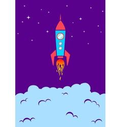 rocket new vector image