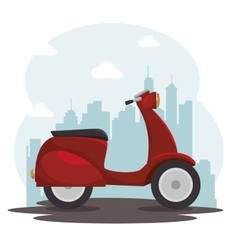 scooter bike italian isolated icon vector image