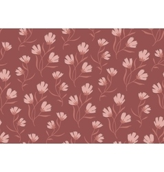 Seamless pattern autumn flowers colored in modern vector image vector image