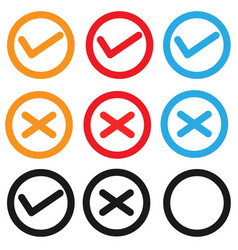 Set checkbox icon on white background set vector