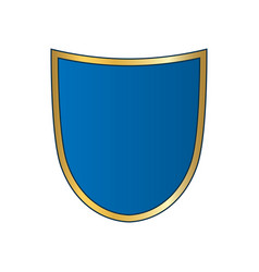 Shield gold blue icon shape emblem vector