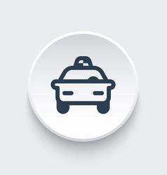taxi car line icon vector image vector image