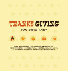 Thanksgiving poster background design collection vector