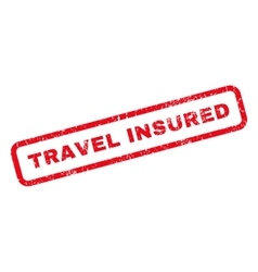 Travel insured rubber stamp vector