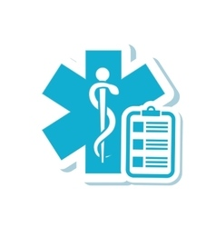 Caduceus history medical care design vector