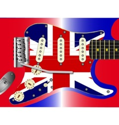 Union jack guitar vector