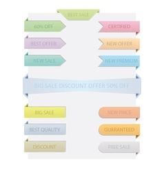 Sale Ribbons Set vector image