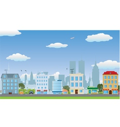 The row of houses vector