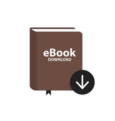 E-book icon with download arrow button online vector