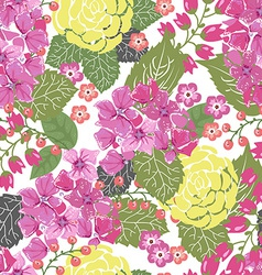 Seamless Color floral frame for wedding invitation vector image