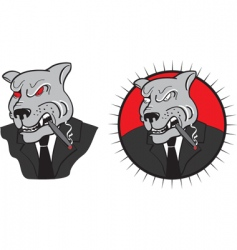 Evil dog boss vector