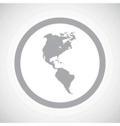 Grey america sign icon vector