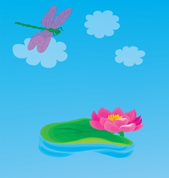 Lily pond vector