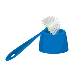 Toilet brush cartoon icon vector