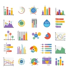 Business data graph analytics elements vector