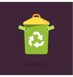 Recycle bin with recycle sign vector