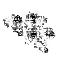 Abstract schematic map of belgium from the black vector