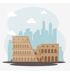 architecture italian culture isolated vector image vector image