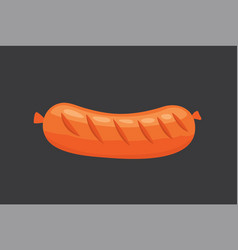 cartoon sausage isolated fresh vector image vector image