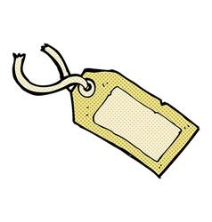 Comic cartoon luggage tag vector