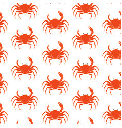 crab pattern vector image