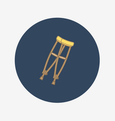 Crutches icon vector