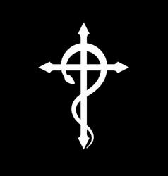 Crux serpentines the serpent cross vector