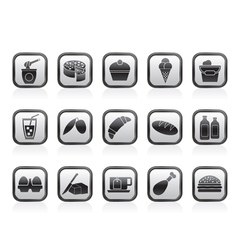 Dairy Products - Food and Drink icons vector image vector image