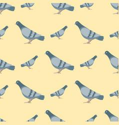 dove flying bird seamless vector image vector image