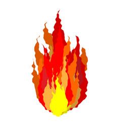 Fire isolated flames sign on white background vector